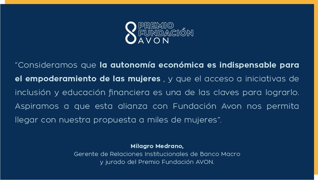Fundación Macro se suma como aliado estratégico en el Premio Fundación AVON